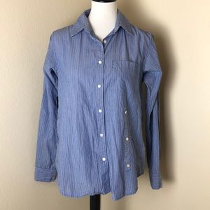 ❤️ Marc Jacobs Blue Pinstriped Button Down Shirt S